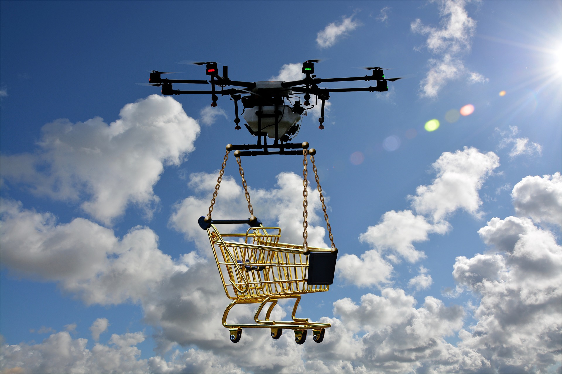 Drone Delivering as a new type of Courier Service